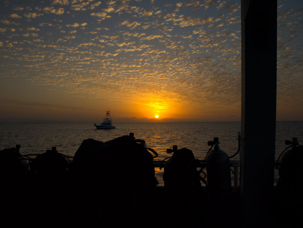 Solnedgang over Great Barrier Reef.