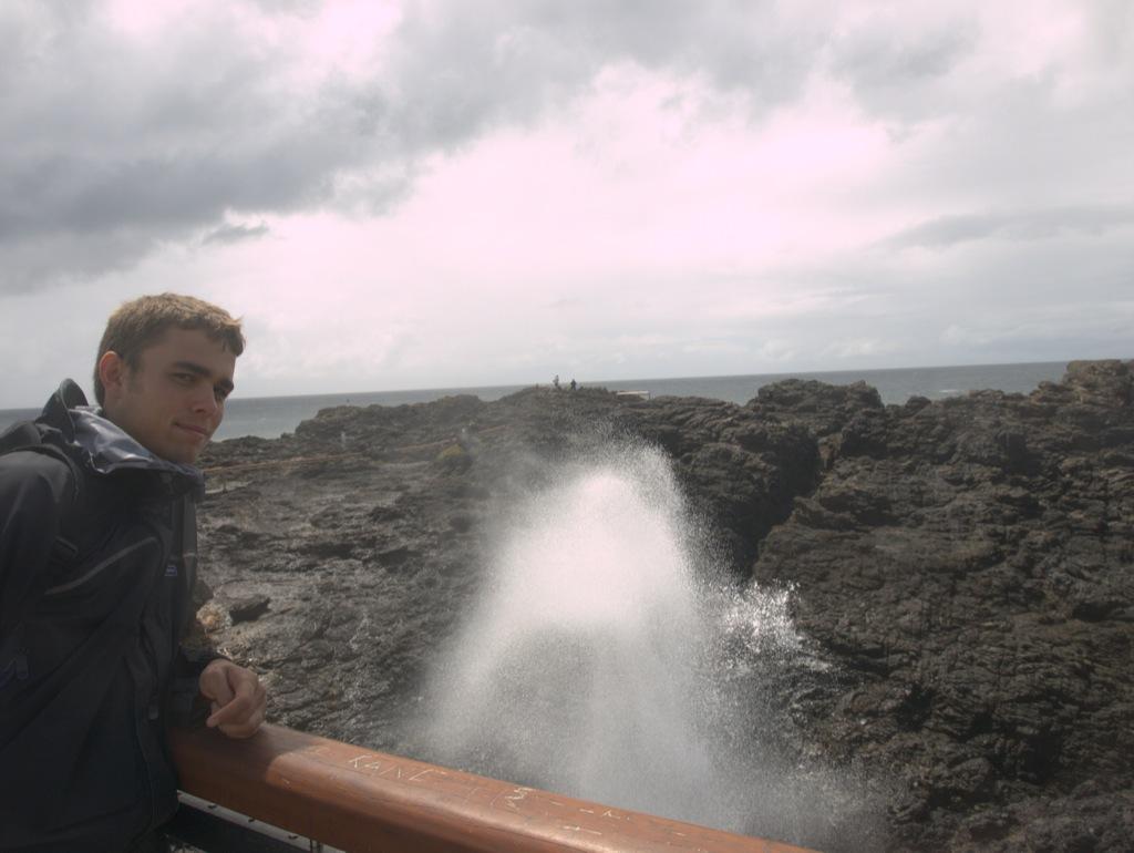 Anders ved Blowhole i Kiama.