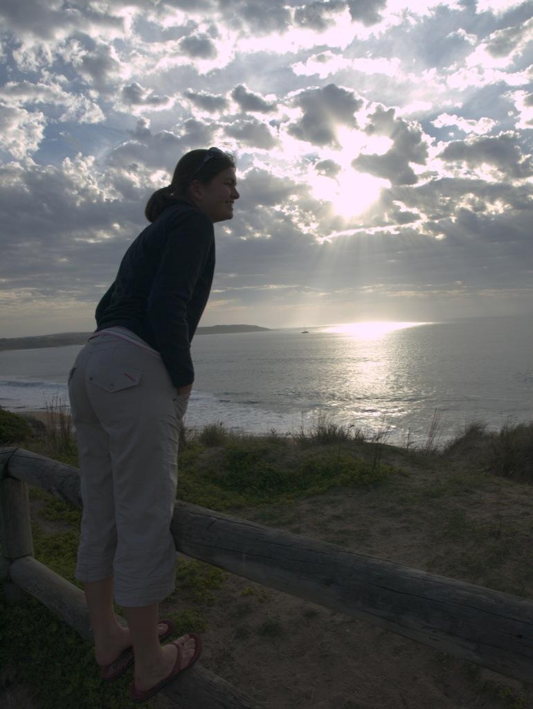 Jeg nyder udsigten ved Flynn Beach, Phillip Island.