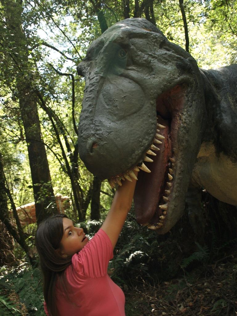 Mig og dinosaur.