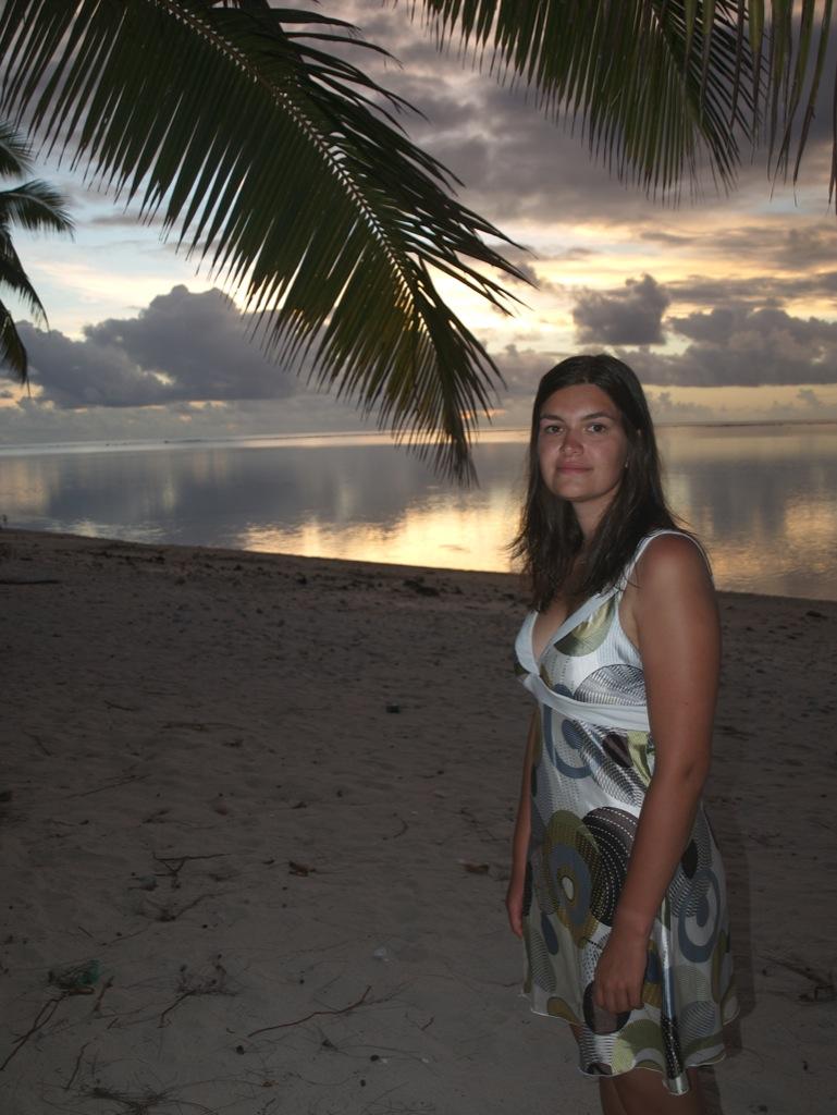 Mig ved stranden inden vi skal ud at spise.