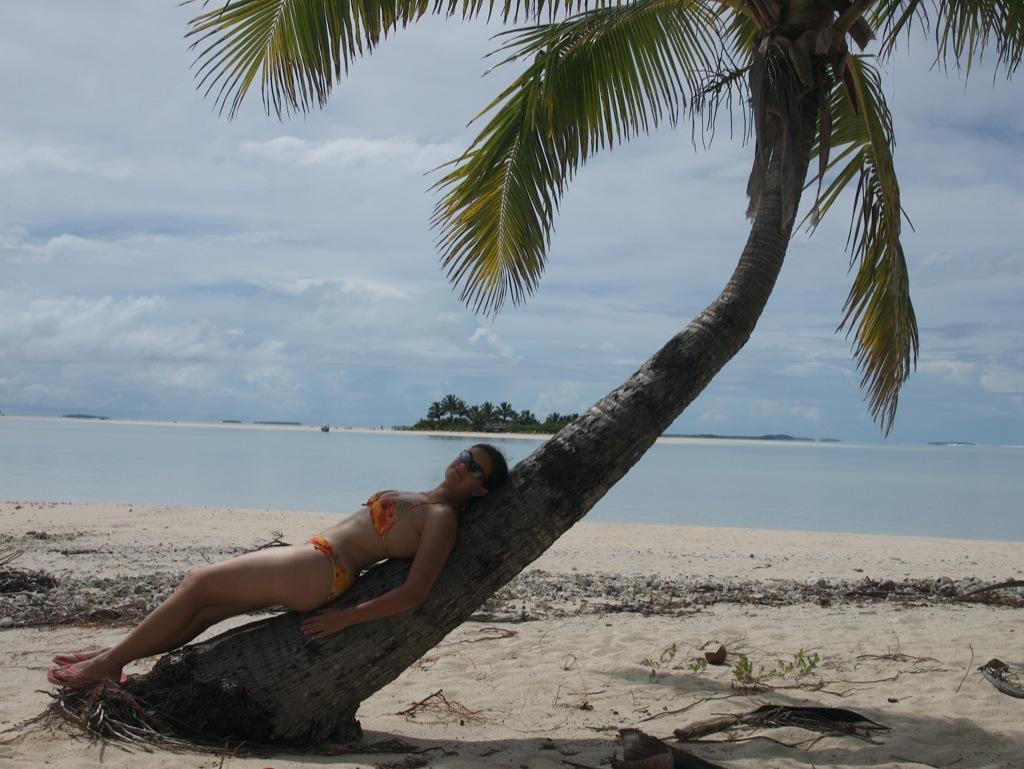 Jeg slapper af på en palme.