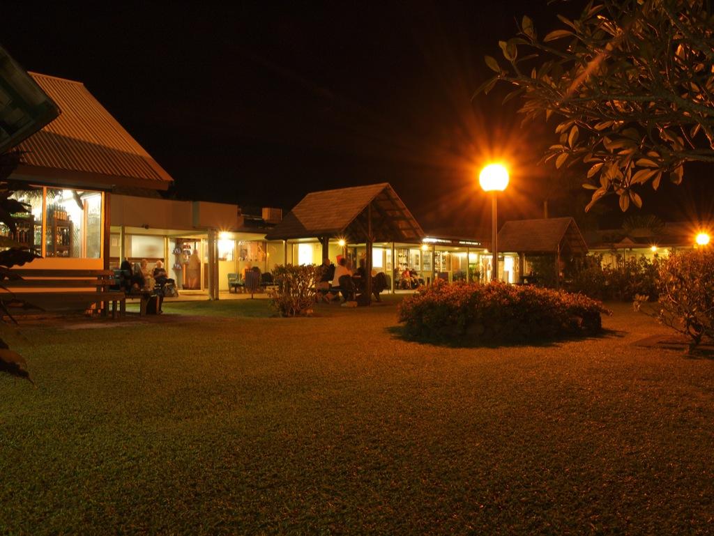 Lufthavnen i Rarotonga ved midnatstid.