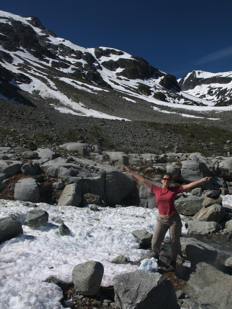 På toppen af klippen; det var her vi tappede vores måske 1 graders vand.