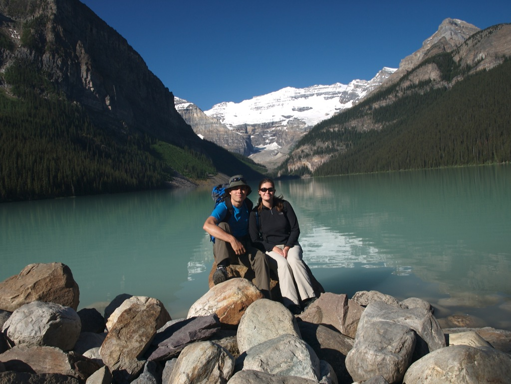 Os begge ved Lake Louise.
