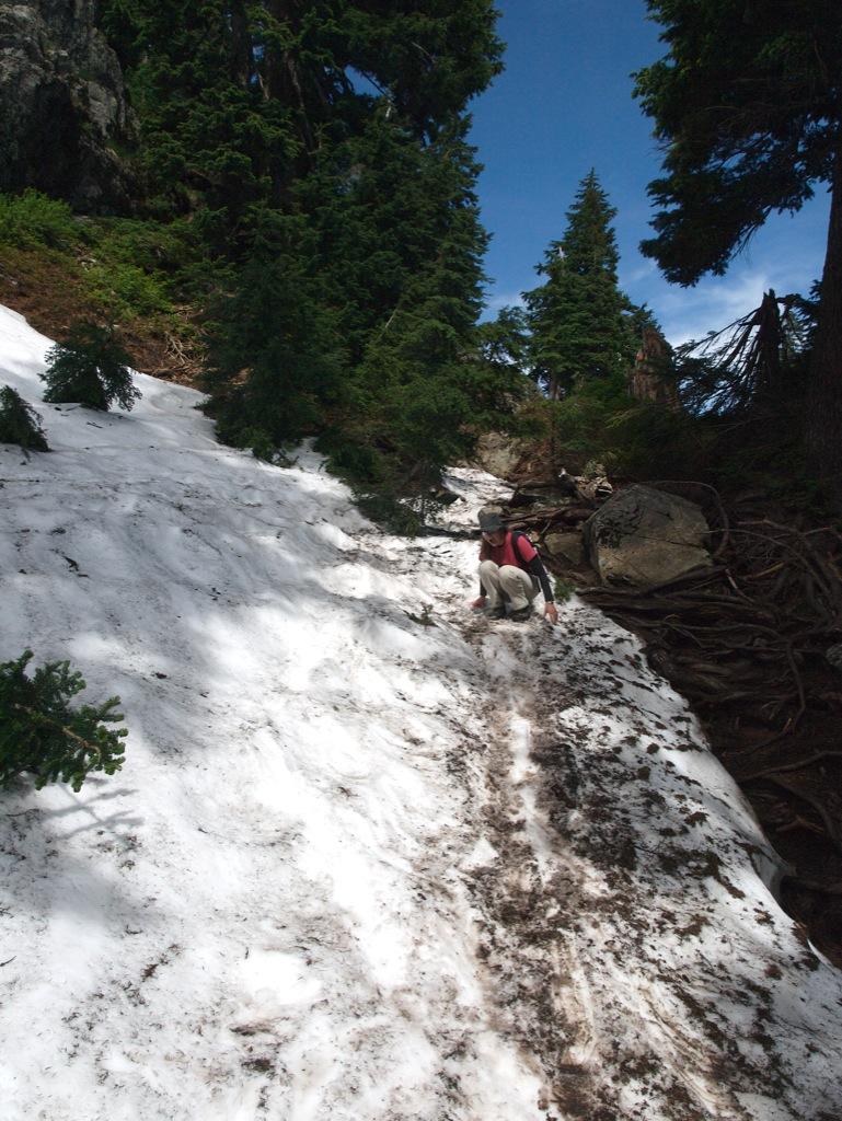 Mig i sneen på Mount Seymour.