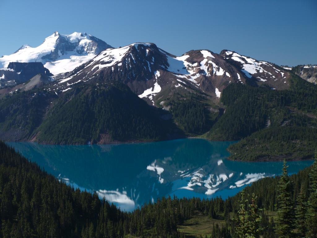 Garibaldi Lake fra toppen ved Black Tusk.