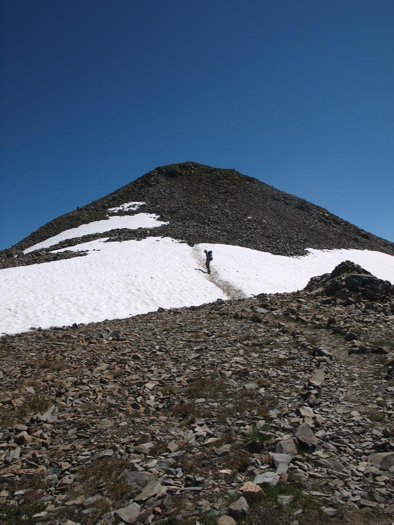 Anders på vej op til Panorama Ridge.