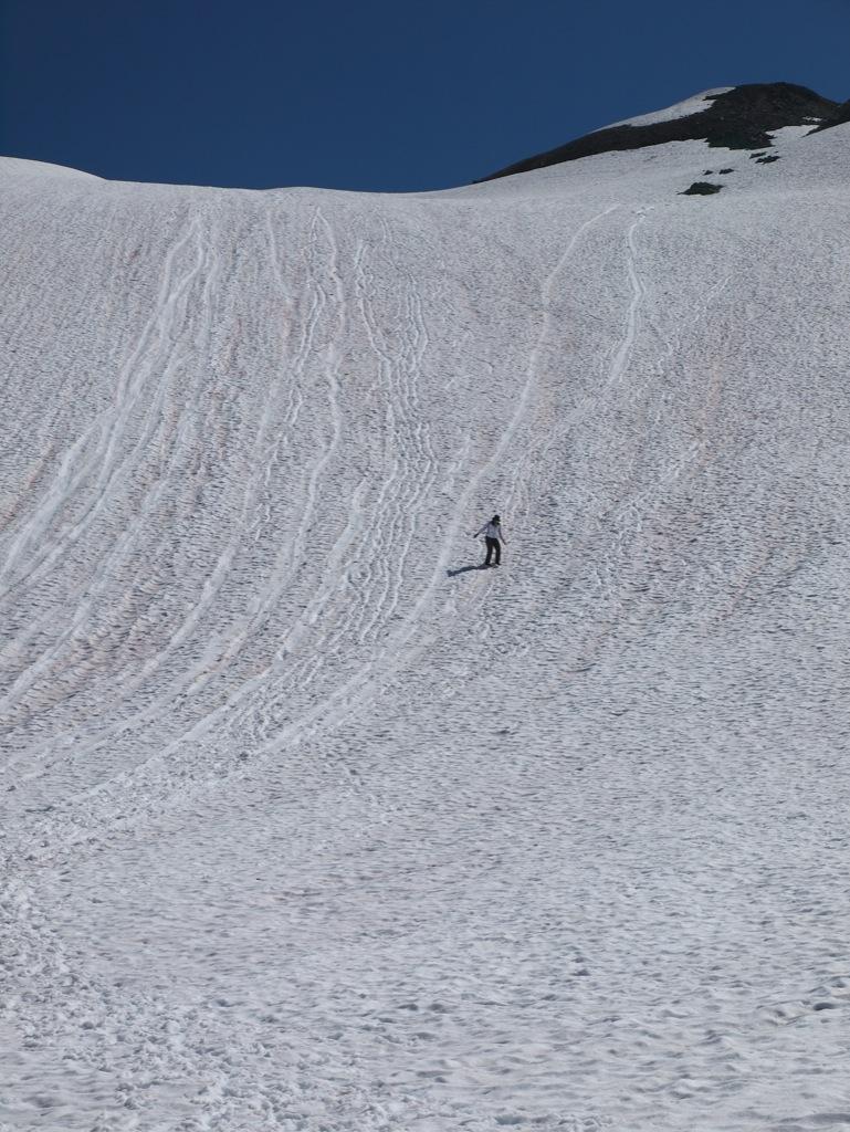 Sikke lille jeg er, men det var også en stor gletscher vi skulle nedad igen.