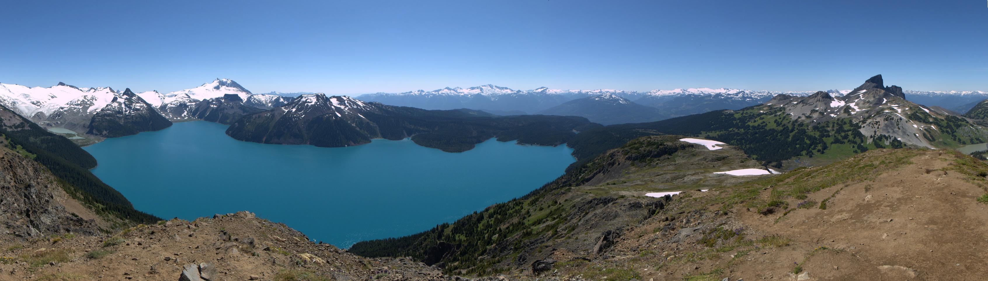 Panorama ved Panorama Ridge.