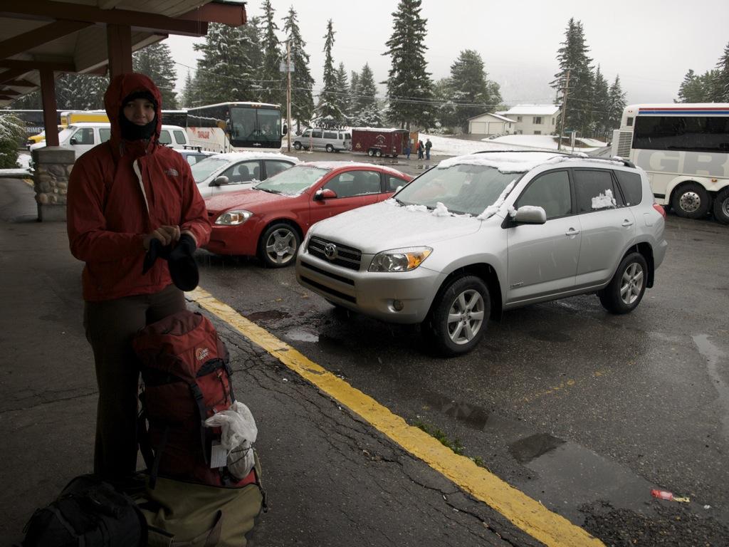 Sne i Banff, 31. august 2008.