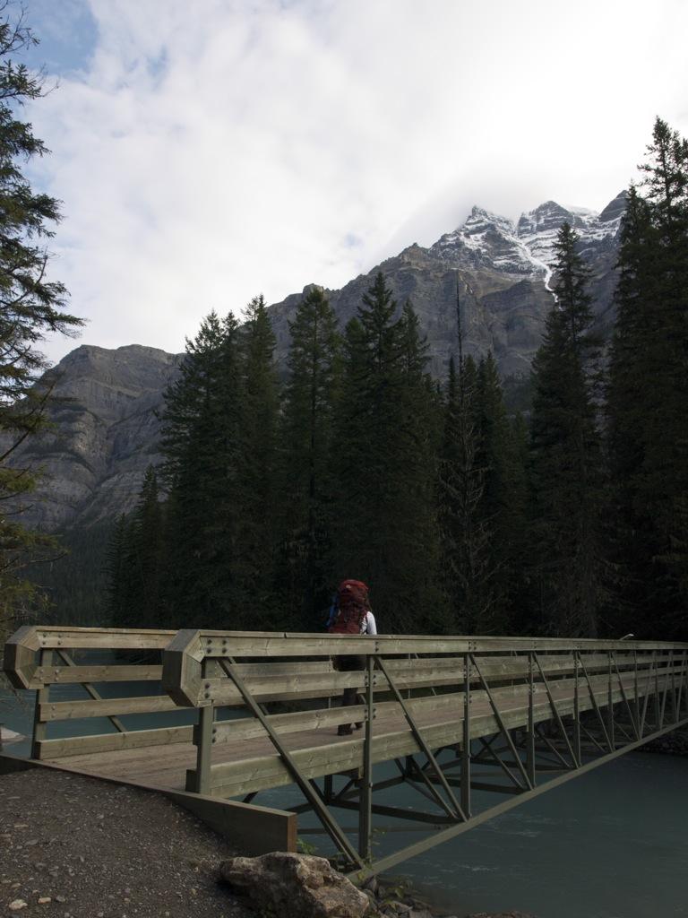 Bro nr. 2; vi er på vej over til Kinney Lake.