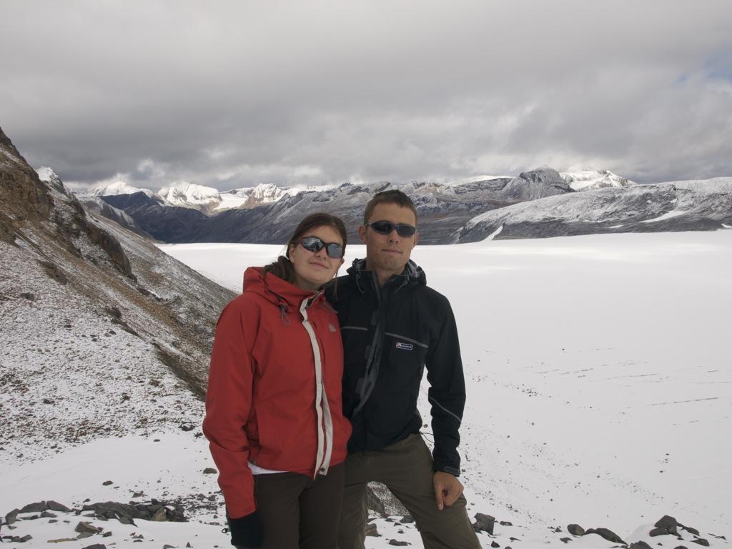 Så er vi nået helt op på toppen af Snowbird Pass.