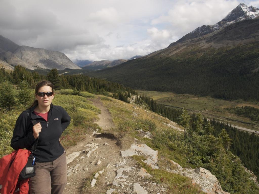 Vi er i gang med noget af vandreturen Wilcox Pass.