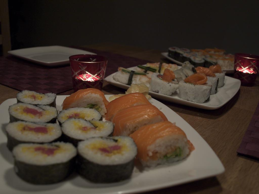 Hjemmelavet sushi.
