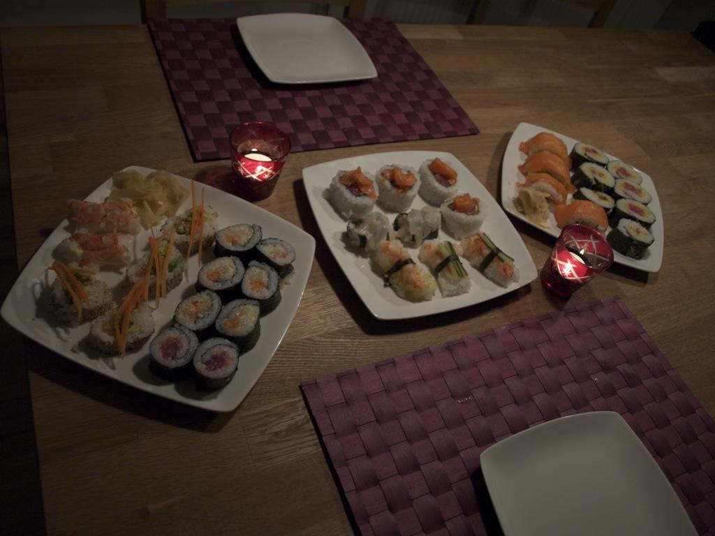 Mere sushi.