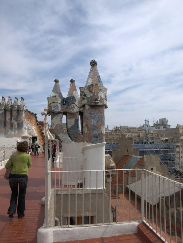 Casa Batlló på taget.