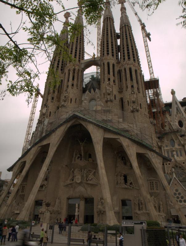 Sagrada Familia - den prægtige kirke i Barcelona.