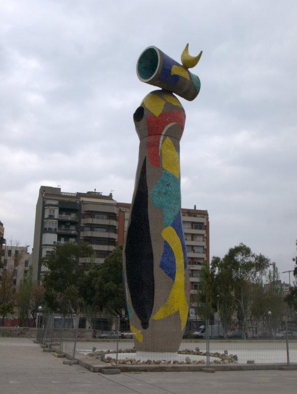 Miró skulptur i Parc Joan Miró.