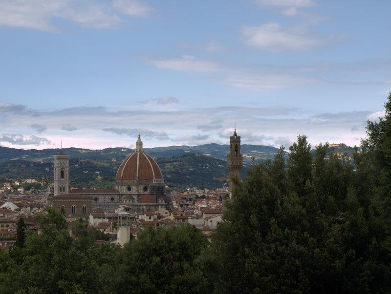 Udsigt over Firenze med bl.a. domkirken.