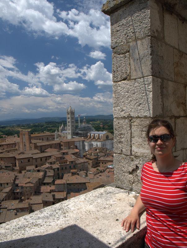 Her er jeg oppe i tårnet, næsten helt oppe.
