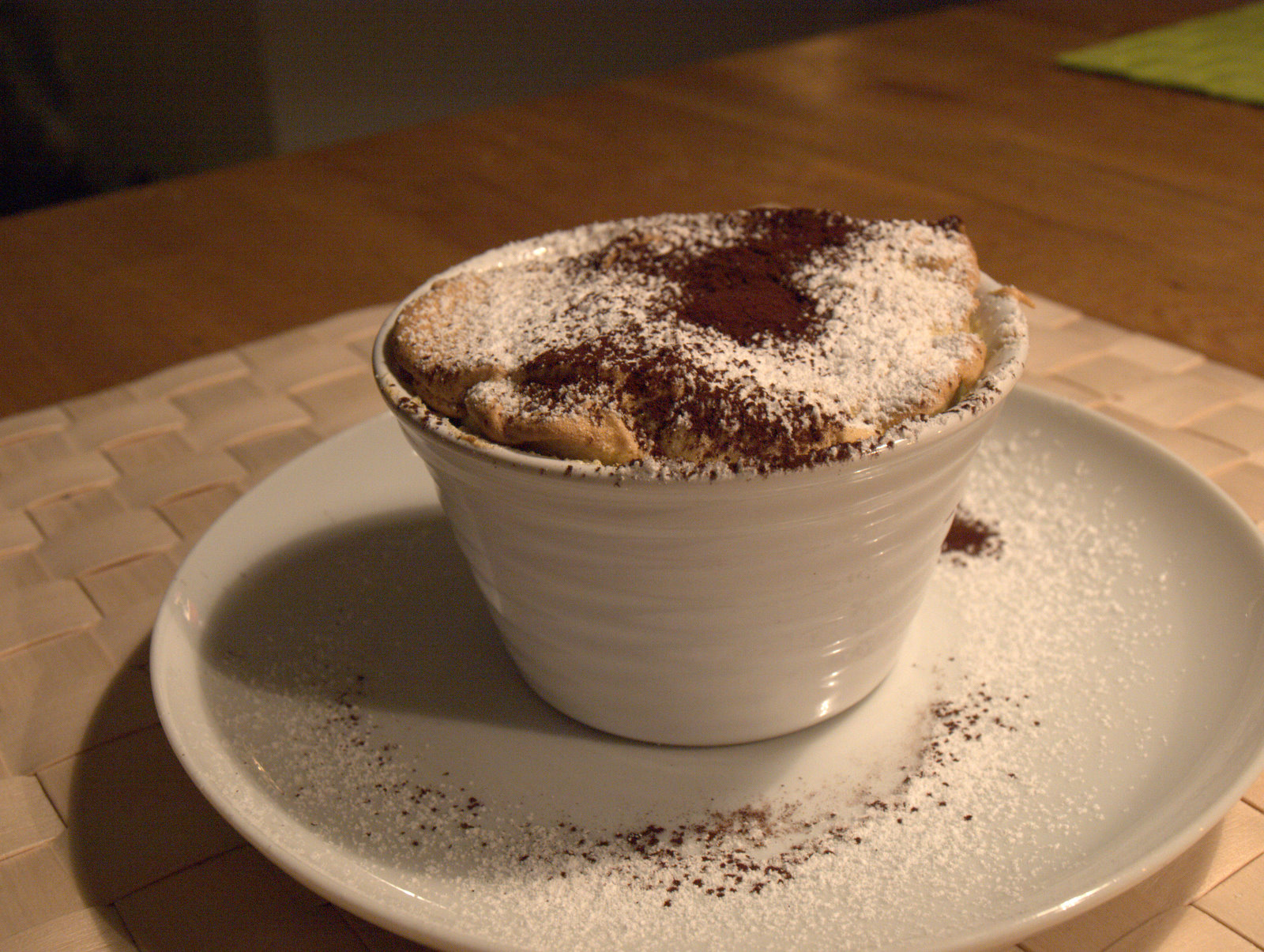 Dessert: Limesoufflé.