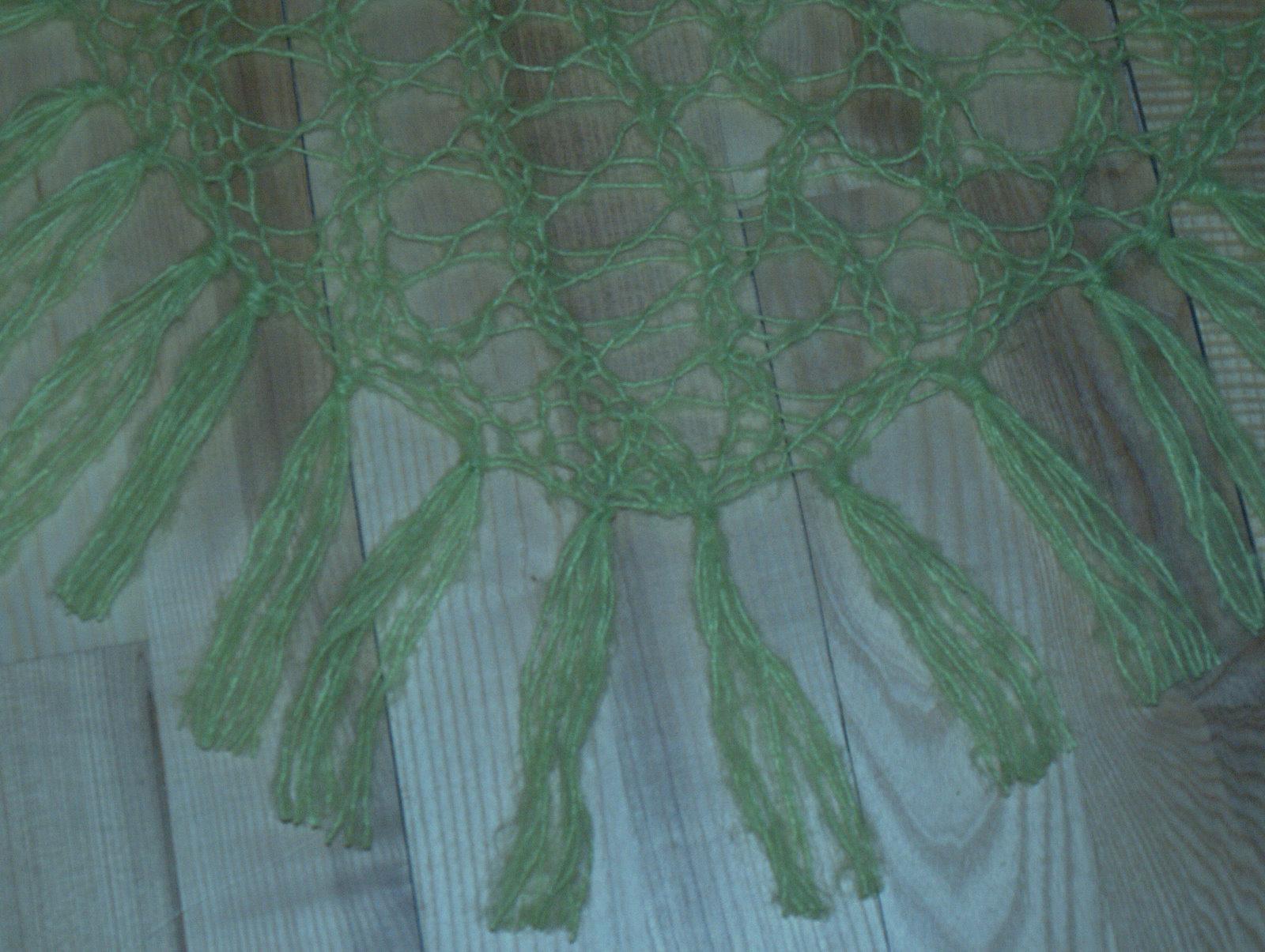 Samme sjal, tættere på, så mønstret lettere kan ses.