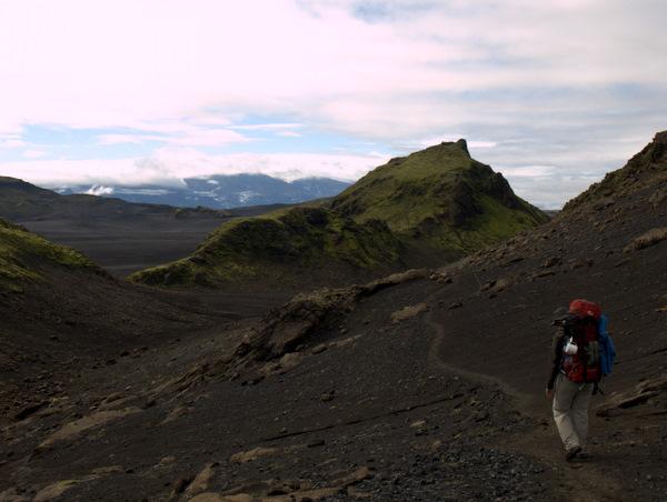 På vej mod vores eneste cache i Island; der var ikke rigtig mulighed eller tid til flere.