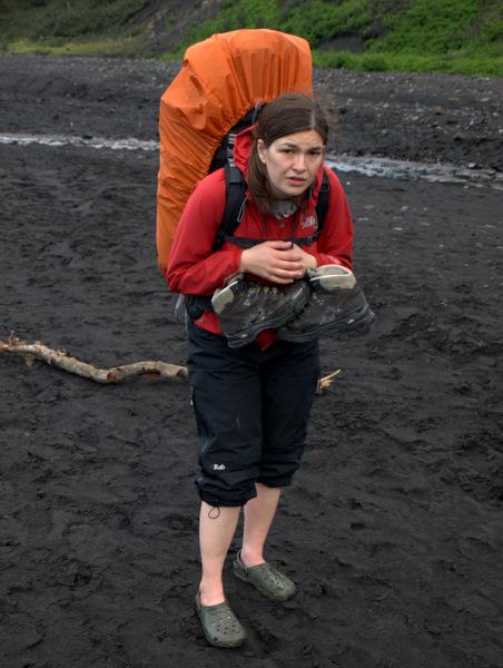 Det sidste flodkryds var det værste, så langt og koldt, og med vabler og ømme fødder, blev det bare mere uudholdeligt.