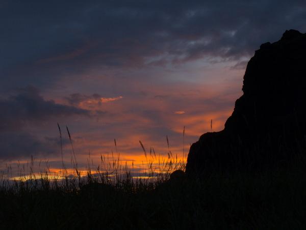 Solnedgang på Heimaey.