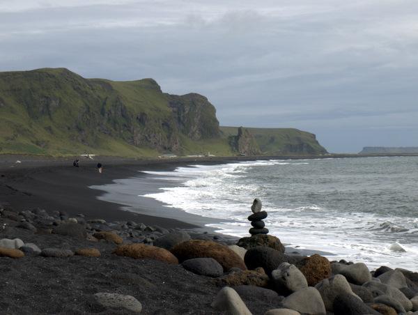 Black sand beach near Vík.