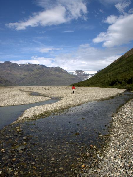 Et lille frivilligt flodkryds, hvor man kunne beholde skoene på