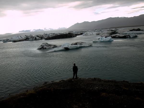 Anders ved gletscherlagunen Jökularslón