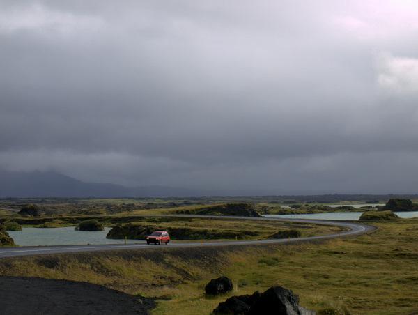 Idyl over Mývatnområdet - dog med gråt vejr