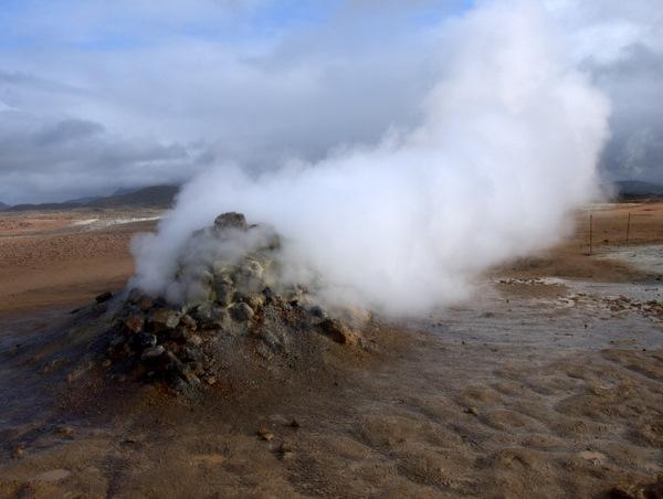 Så er der gang i det geotermiske; Mývatn