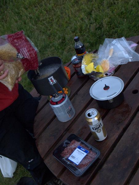 Madlavning ved Borgarnes camping