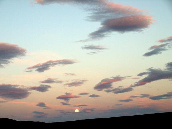 Måneopgang ved Talknafjödur