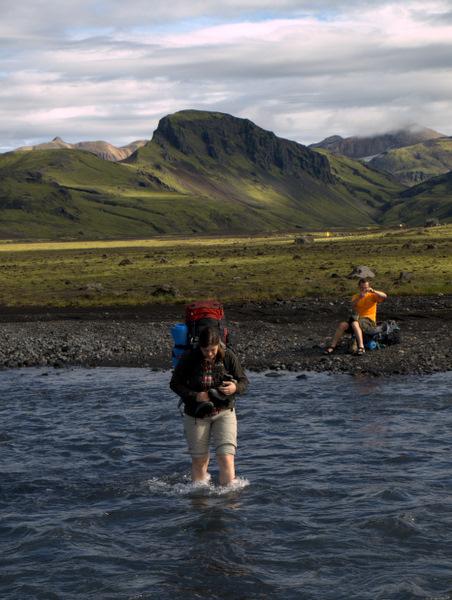 Endnu et flodkryds, men nu er vi ved at have styr på det, og dette var en af de nemme, men dog lige så koldt.