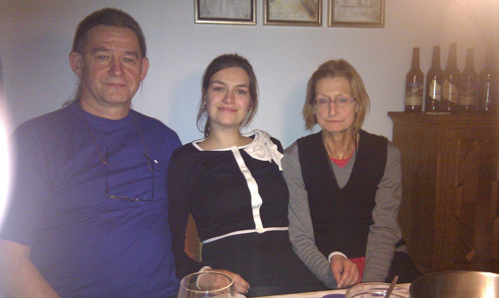 Min onkel, mig selv og min mor