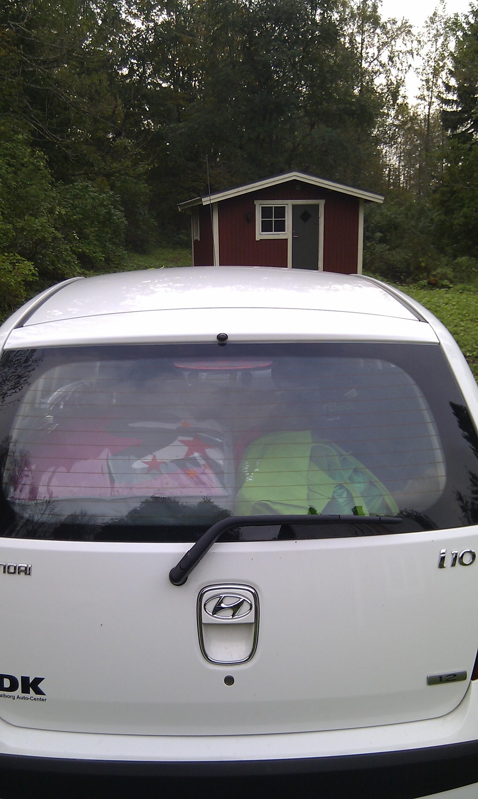Bilen godt fyldt