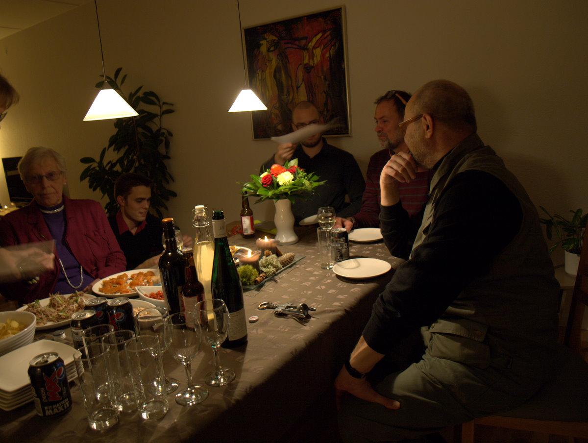 Små hapsere hos os efter receptionen og inden maden