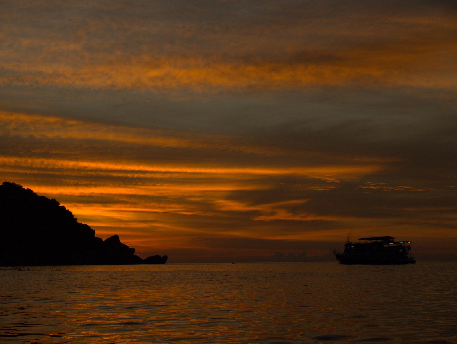 Solnedgang over Andamanhavet