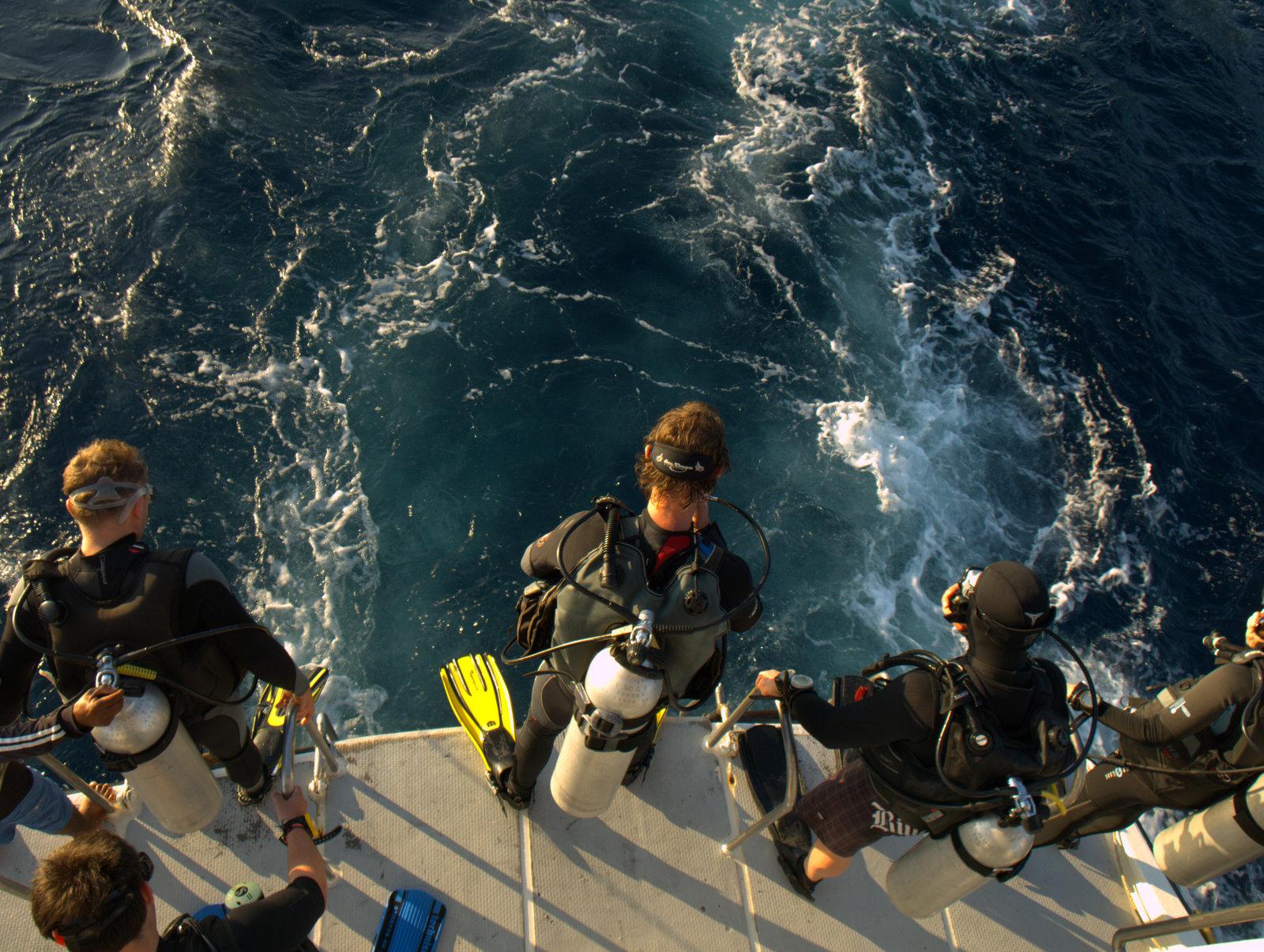 Der gøres klar til dyk