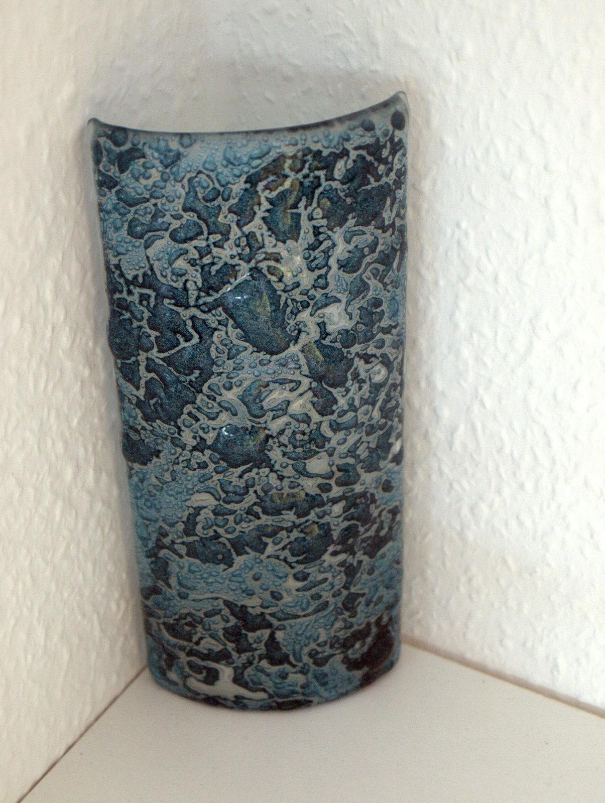 Glas med oxideret kobber