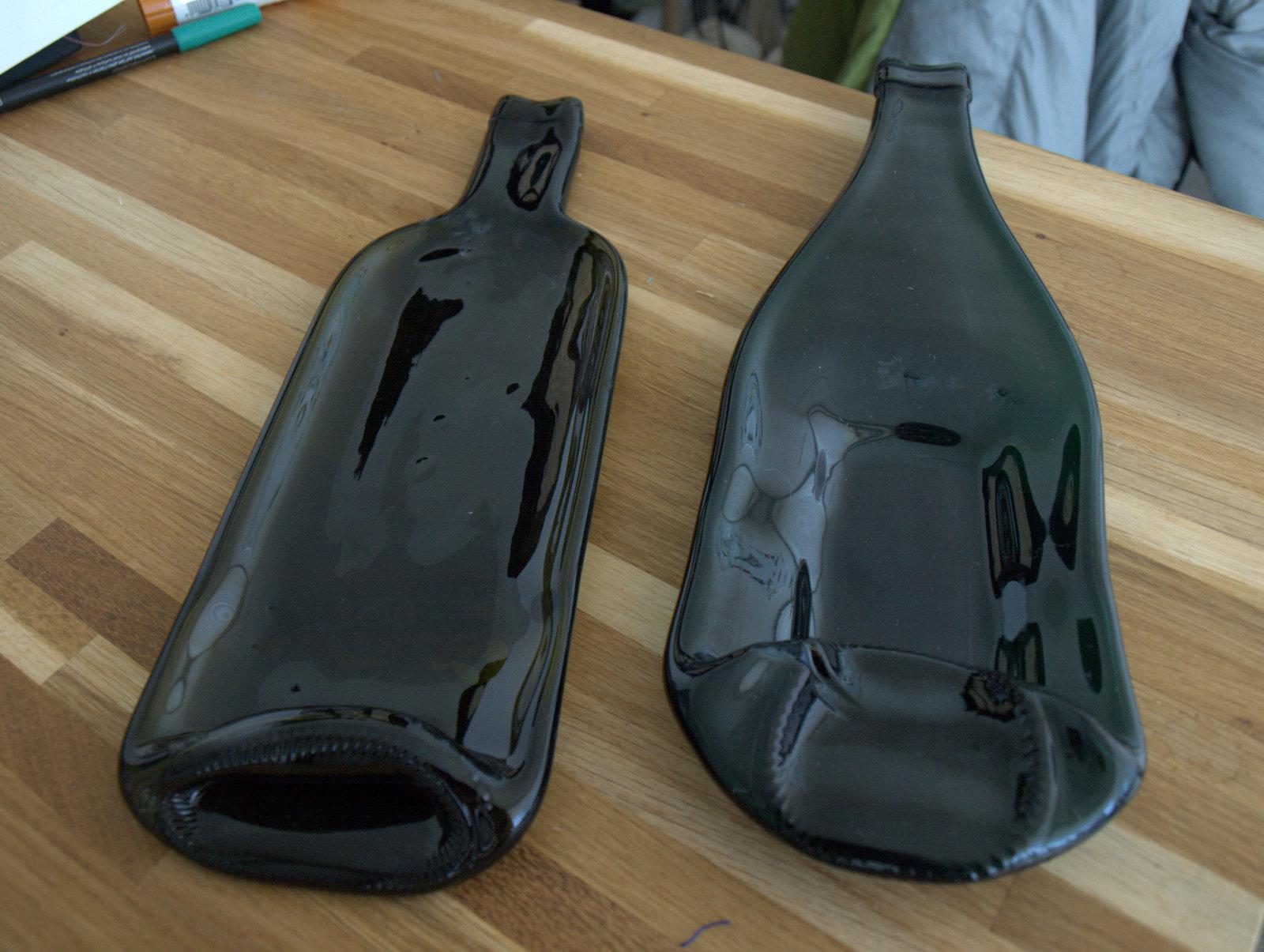 Smeltede vinflasker