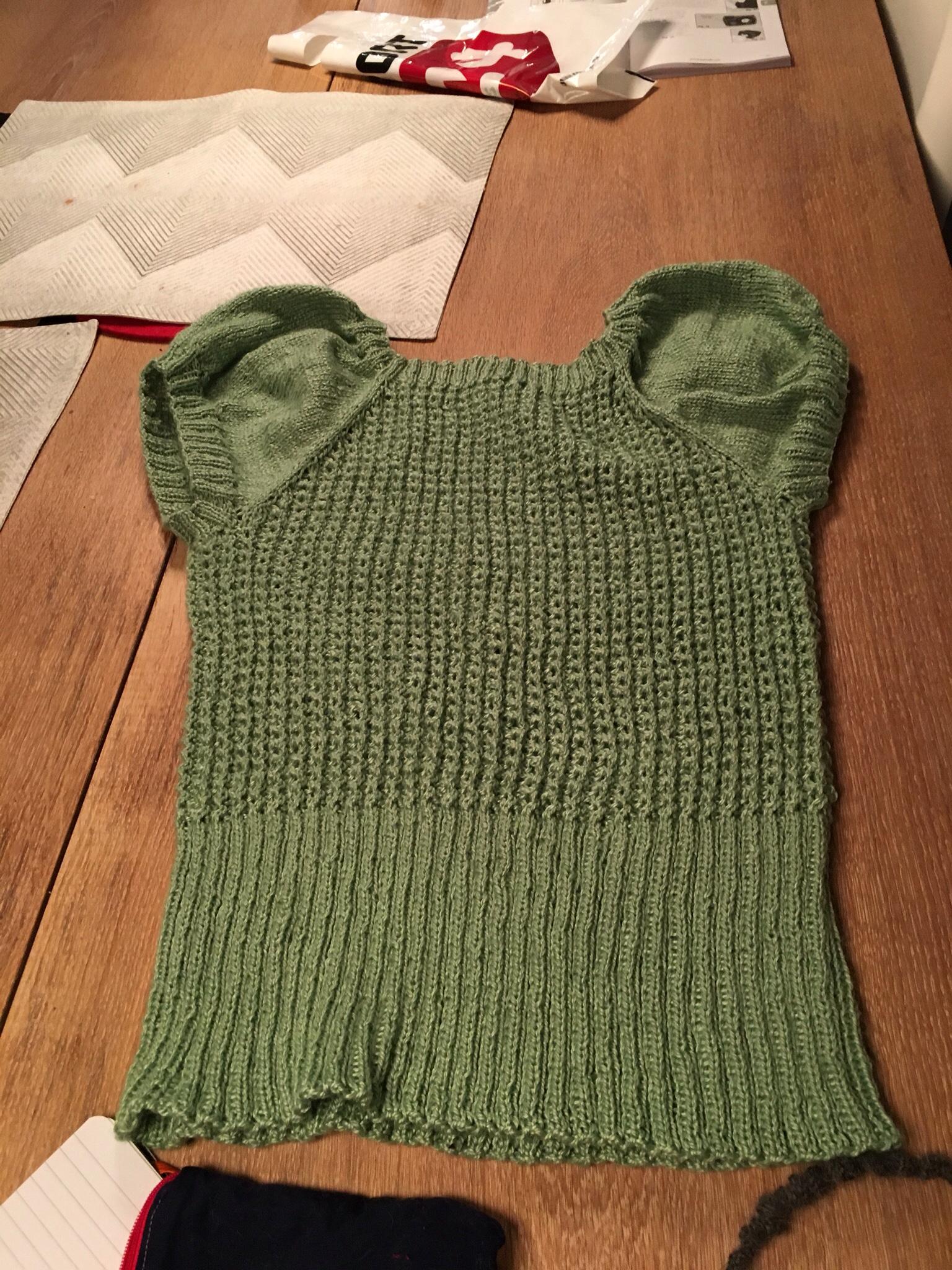 mode stilarter bedste kvalitet online til salg Dortes skriblerier » Strikket lysegrøn bluse med pufærmer